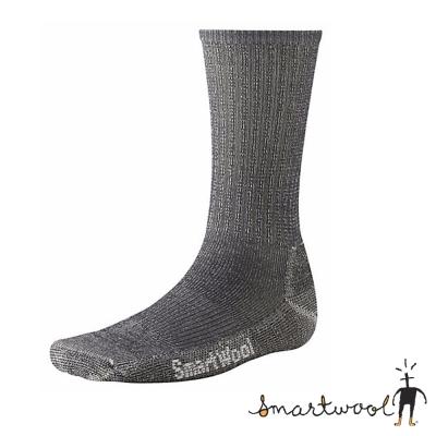 【美國 SmartWool】美麗諾羊毛 輕型健行中長襪(2入)_灰