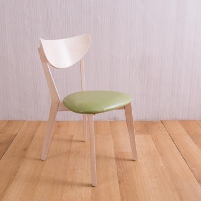 AS-安娜全實木餐桌椅-雪松色-45X50X80cm