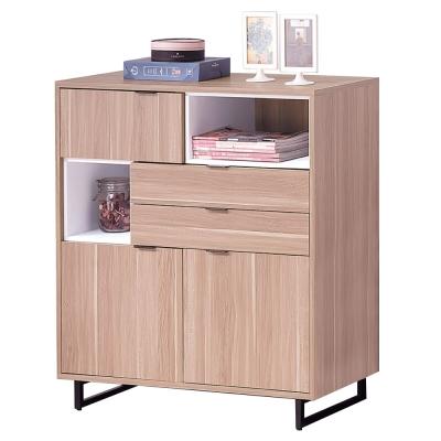 品家居 米爾思3尺橡木紋展示櫃/收納櫃-90x40x100cm-免組