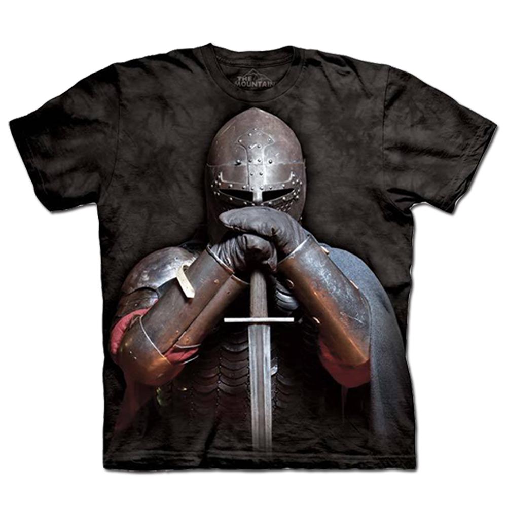 摩達客 美國進口The Mountain盔甲騎士純棉短袖T恤