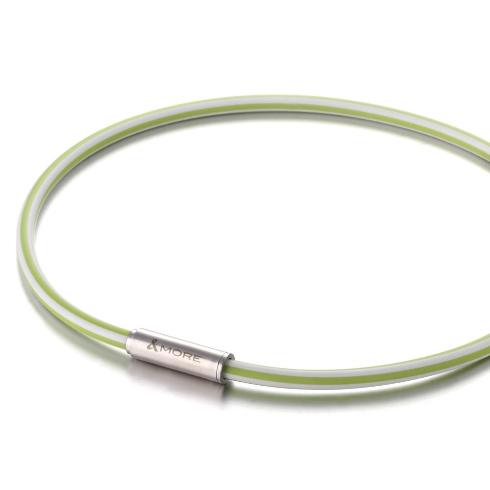 &MORE愛迪莫『FLASH』閃電能量鈦鍺項鍊 (草綠)