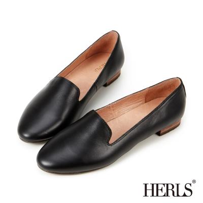 HERLS-平底鞋-鞋匠手作-全真皮-素面-樂福鞋