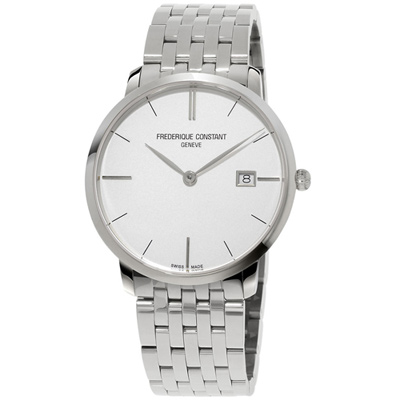 康斯登 CONSTANT SLIMLINE超薄系列MIDSIZE DATE腕錶 -銀
