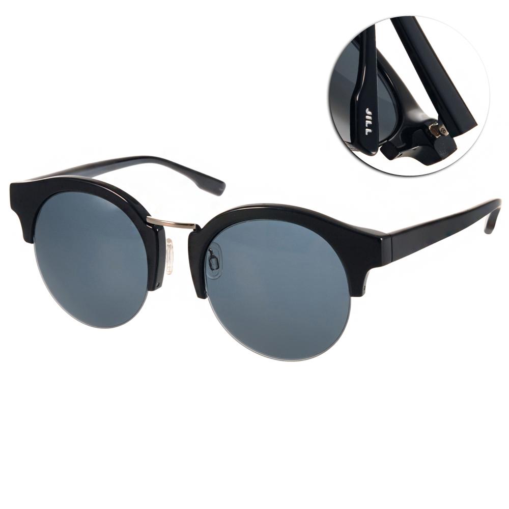 JILL STUART太陽眼鏡 圓框半框款/黑#JS20006X C01