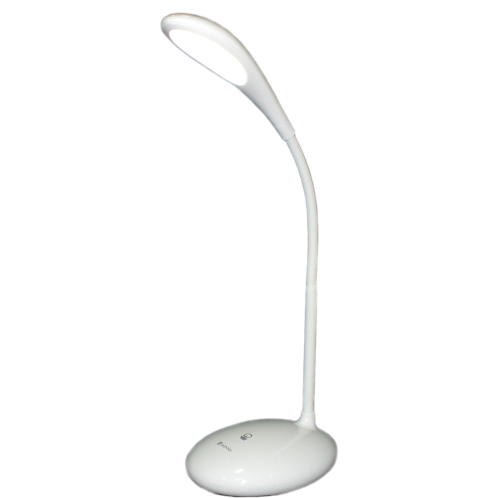 KINYO 可彎軟管純白USB充電觸控LED檯燈(PLED866)