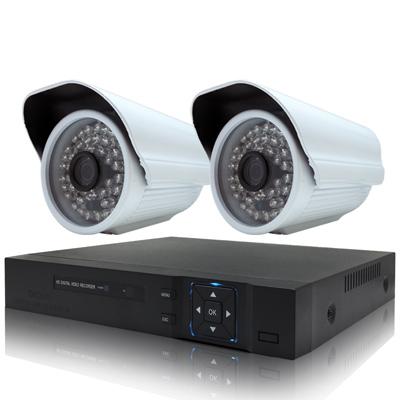 奇巧 4路HD1080P數位高清監控組(含720P130萬畫素攝影機x2)
