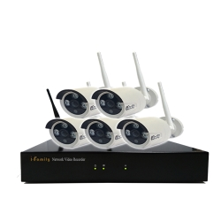 宇晨I-Family免配線/免設定960P八路式無線監視系統套裝一機五鏡