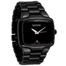 NIXON The Ceramic Player陶瓷真鑽瑞士機芯腕錶-黑/45mm