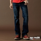 BIG TRAIN-伸縮低腰靴型褲(深藍)