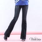 Victoria 中高腰彩鑽靴型褲-女-黑
