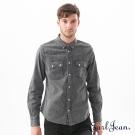 Earl Jean 壓線灰色單寧襯衫-男