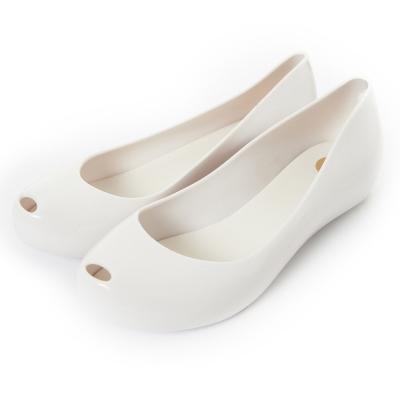 Melissa 經典果凍魚口鞋-白