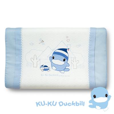 KU.KU酷咕鴨-涼感兒童枕-藍