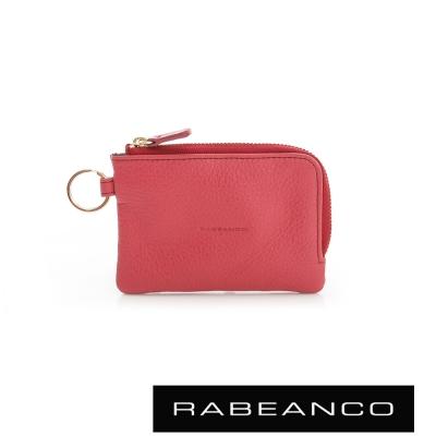 RABEANCO 經典小牛皮萬用鑰匙零錢包 – 紅