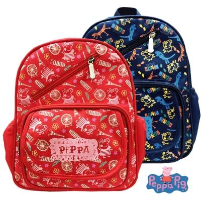 Peppa Pig 粉紅豬圖騰印兒童後背包(佩佩豬/喬治)PP5821(快)