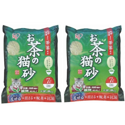 日本IRIS 天然綠茶茶葉豆腐貓砂 7L (OCN-70) x 2包入