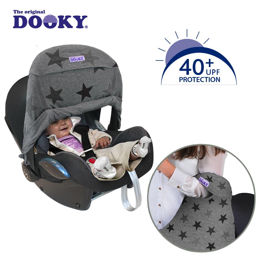 荷蘭dooky-抗UV手提汽座前遮陽罩-鉛灰星星