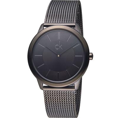 CK Calvin Klein Minimal 俐落米蘭時尚腕錶-黑/35mm