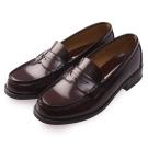 (女)日本 HARUTA 復古經典4505亮面便士鞋-咖啡色