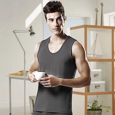 DADADO 基礎系列竹纖維M-LL寬版無袖背心內衣(灰)