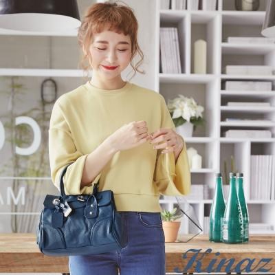 KINAZ - Sweet午茶色夢境系列~悠閒時光手提包-天空藍