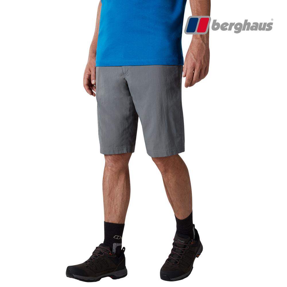 【Berghaus貝豪斯】男款輕量快乾透氣短褲S09M08-灰