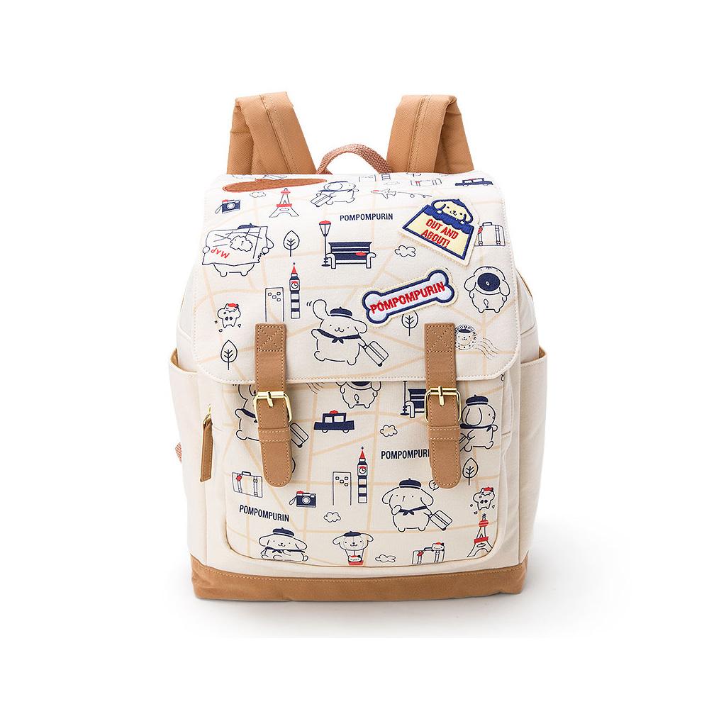 Sanrio布丁狗快樂旅行系列上掀蓋式後背包