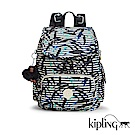 Kipling 後背包 叢林印花-中