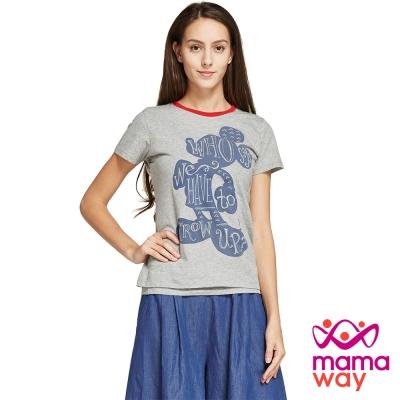 孕婦裝 哺乳衣 迪士尼米奇童年兩件哺乳上衣 Mamaway