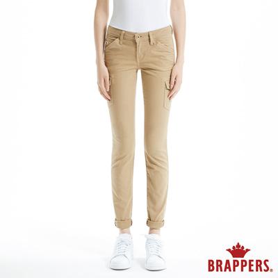 BRAPPERS 女款 Boy Friend Jeans系列-彈性直筒褲-卡其