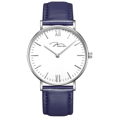 J&V -簡尚糸列 雅痞藍錶(Y01646-Q3.WWWLL)-藍色40mm