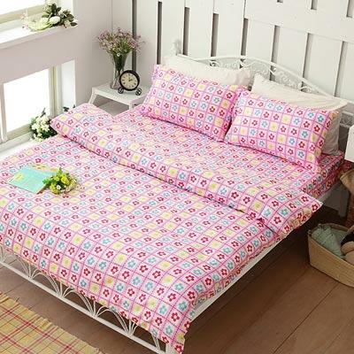 Alisa-愛麗莎-愛的小花-雙人四件式被套床包組