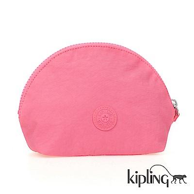 Kipling 零錢包 浪漫玫粉素面-小