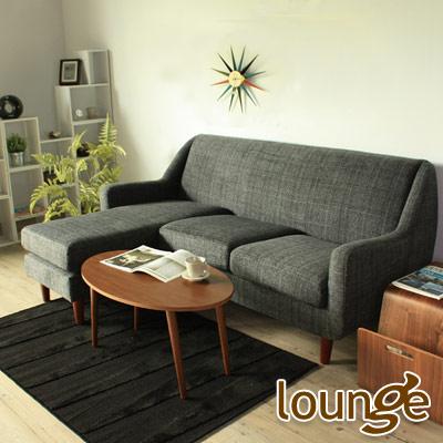 Lounge長秦 愛德華英倫風L型沙發-藍色