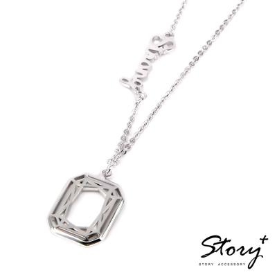 STORY ACCESSORY-鑽石切割系列-方鑽項鍊(8字內)