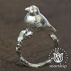 Marship 日本銀飾品牌 爪哇禾雀戒指 文鳥戒指 925純銀 亮銀款