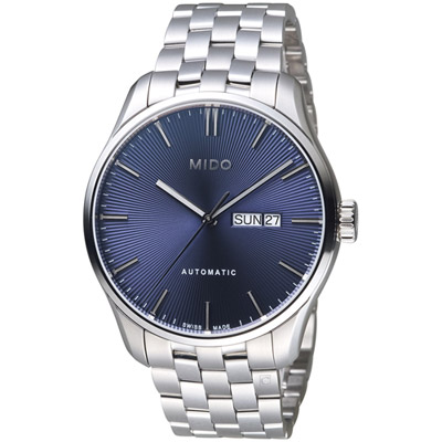 MIDO美度錶 BELLUNA II系列時尚紳士腕錶-藍色/42mm