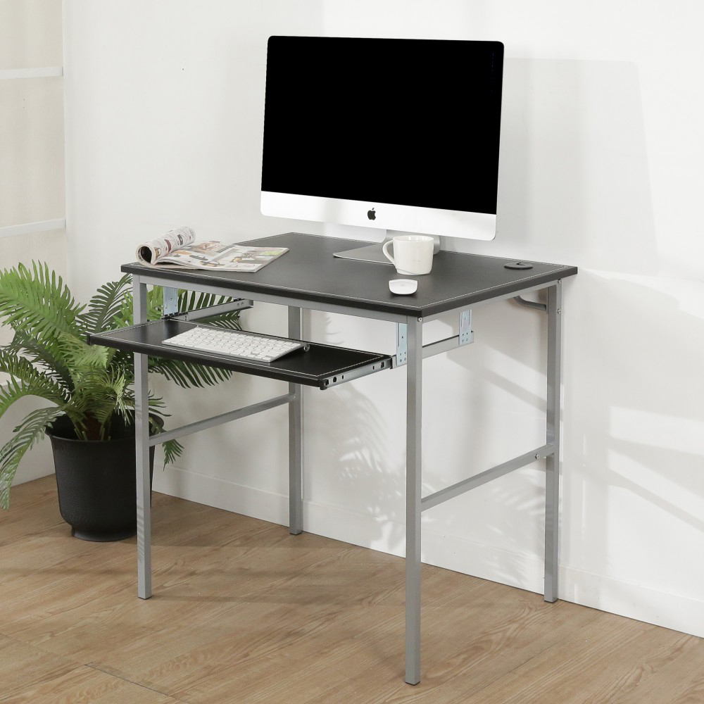 BuyJM低甲醛粗管仿黑馬鞍皮鍵盤電腦桌/寬80cm-DIY