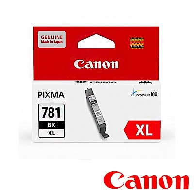 Canon CLI-781XL BK 原廠相片黑高容量墨水