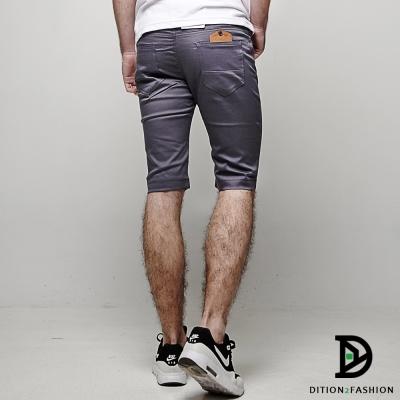 DITION 國民平價基本款鋼印皮革TS休閒短褲