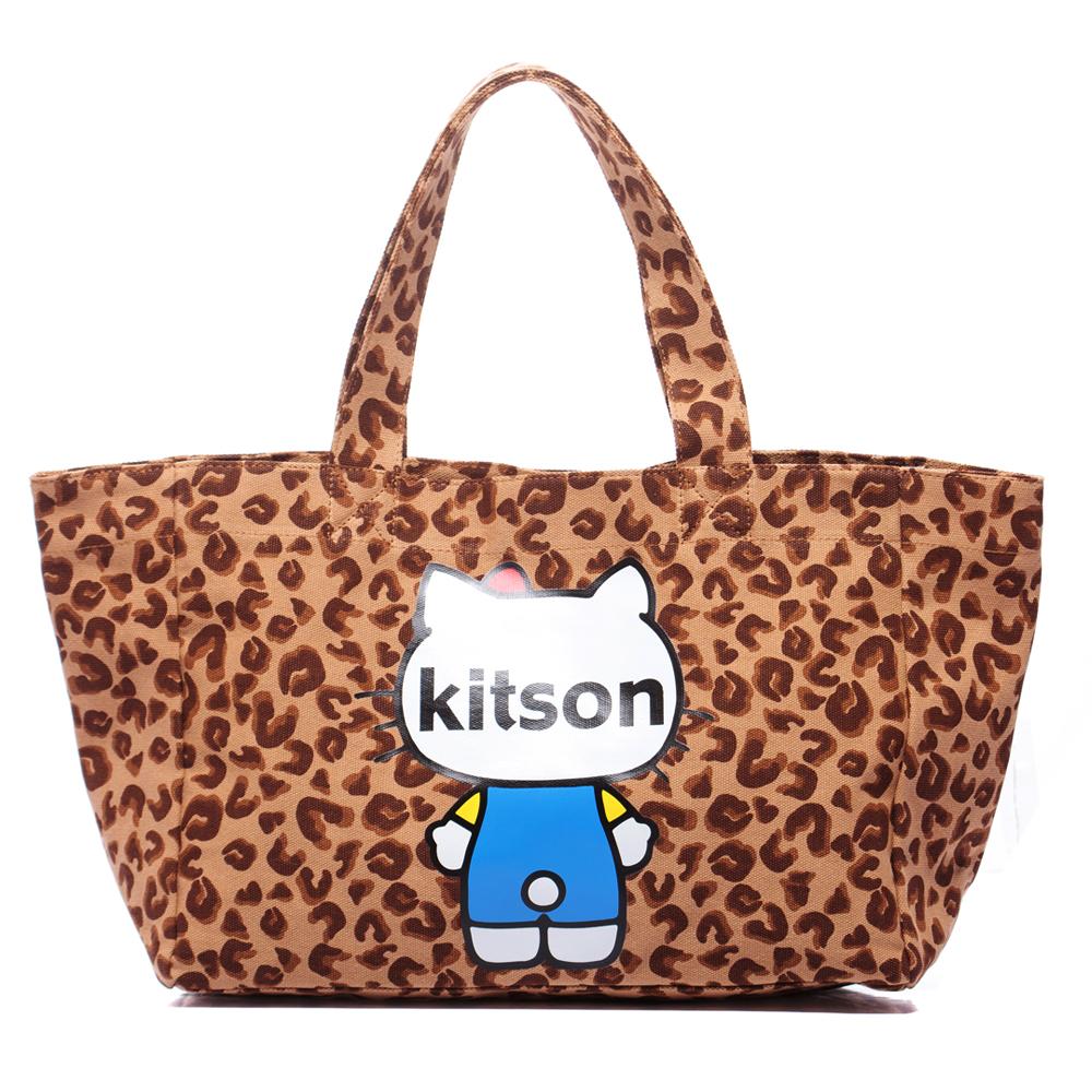 kitson x Ribbon Hello Kitty L Tote (豹紋)