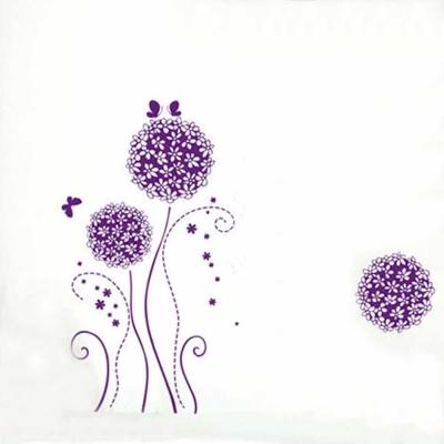A-085花草系列-紫色花球 大尺寸高級創意壁貼 / 牆貼