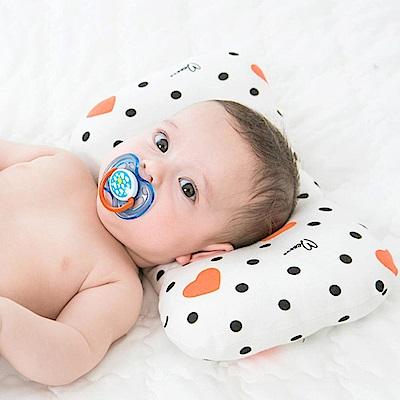 Baby unicorn 紅心黑點立體塑形嬰兒枕