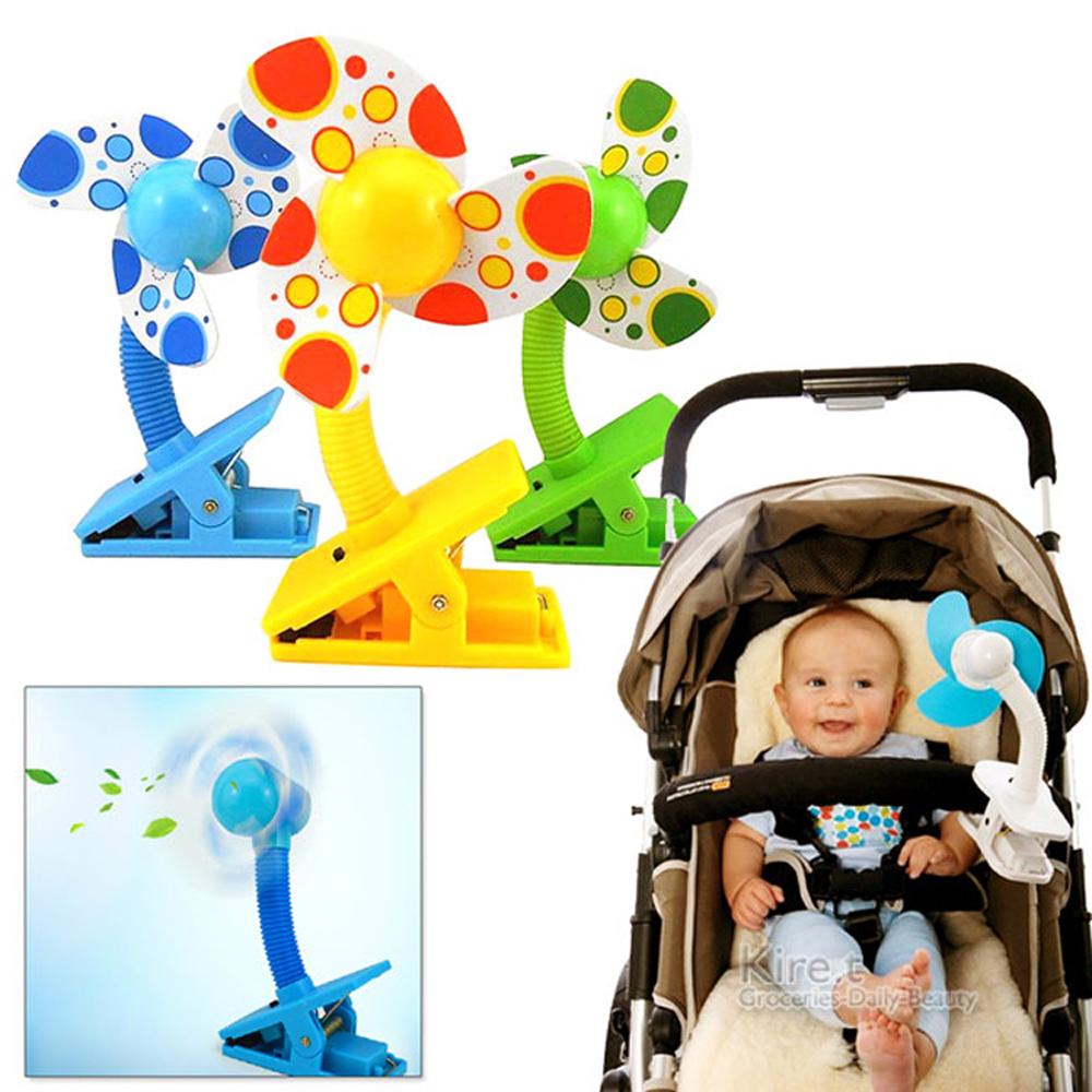 【超值2入】kiret 嬰兒推車夾式小電風扇-贈USB連接線(顏色隨機)