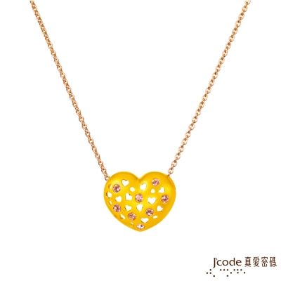 J'code真愛密碼 滿滿愛黃金墜子-小 送項鍊