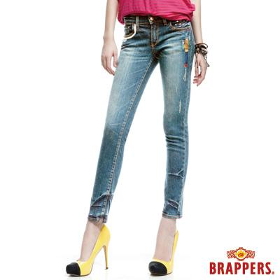BRAPPERS 女款 新美腳Royal系列-女用彈性九分褲-淺藍