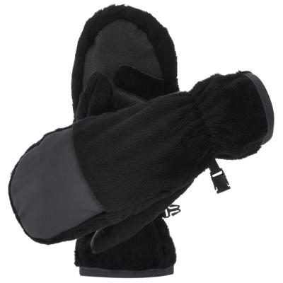 【Berghaus貝豪斯】女款刷毛保暖手套H46F01-黑
