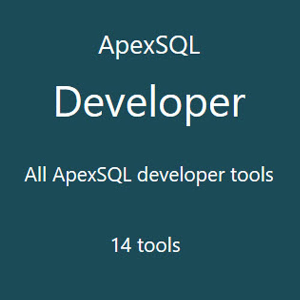 ApexSQL Developer (資料庫開發工具) 單機版(下載版)