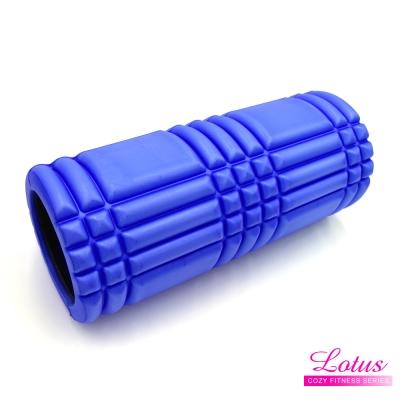瑜珈柱EVA瑜珈滾筒按摩滾筒-LOTUS-藍色