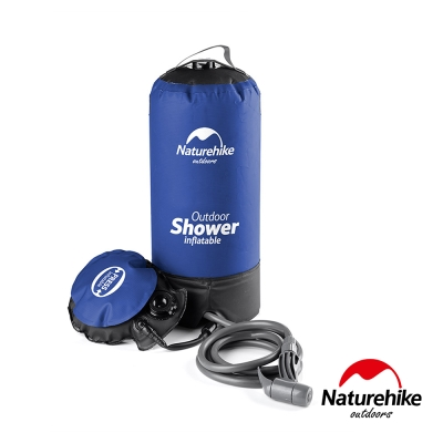 Naturehike 輕巧便攜戶外淋浴器 沖水器 沐浴袋 藍黑-急